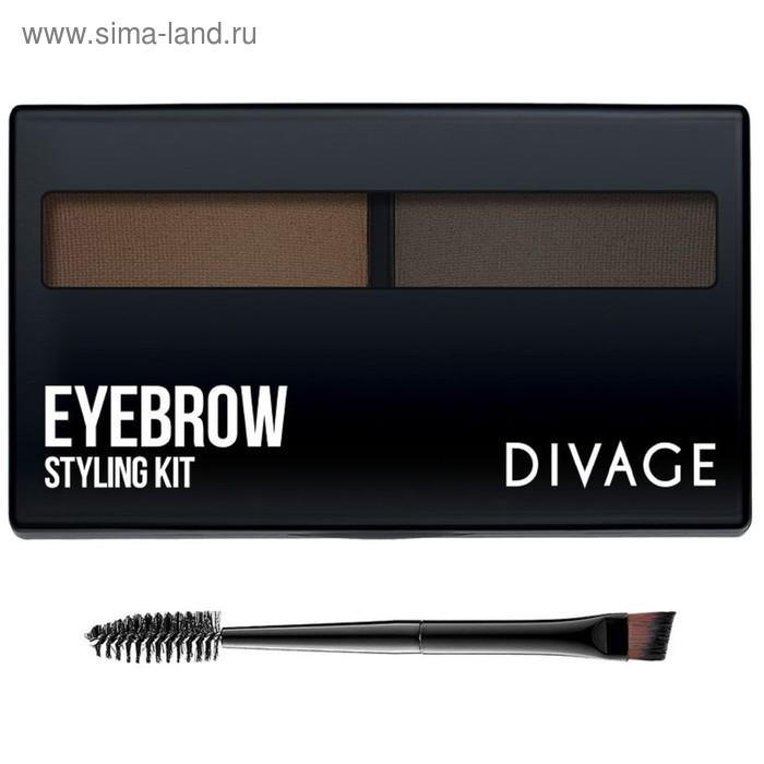 Набор для моделирования формы бровей Divage Eyebrow Styling, тон №02