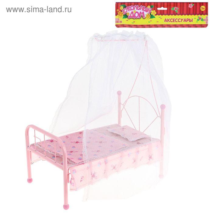 Кровать для куклы c балдахином, БОНУС - наклейки