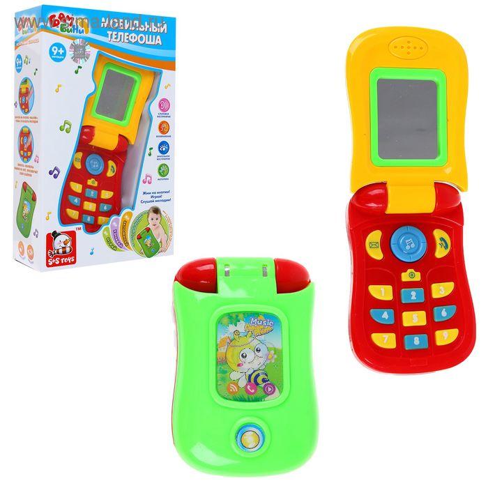 """Телефон детский """"Телефоша"""", световые и звуковые эффекты, работает от батареек, МИКС"""