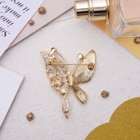"""Brooch """"Butterfly"""", colored in gold"""