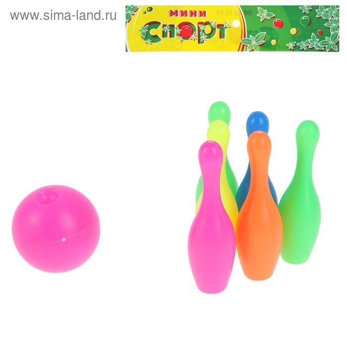 """Набор для боулинга """"Страйк"""", 6 кеглей (высота 9,5 см), 1 шар"""