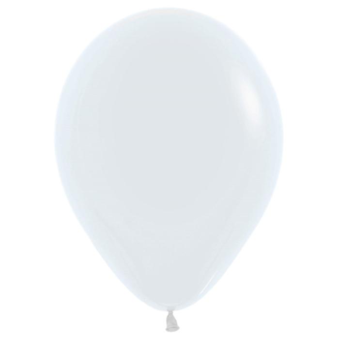 """Шар латексный 10"""", пастель, набор 100 шт., цвет белый 005 - фото 308467398"""