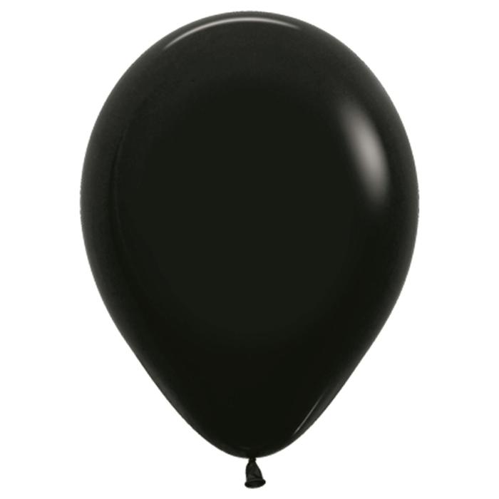 """Шар латексный 10"""", пастель, набор 100 шт., цвет чёрный 080 - фото 953291"""