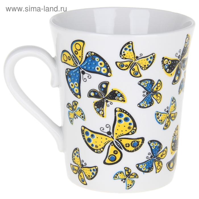 """Кружка 400 мл """"Солнечные бабочки"""""""