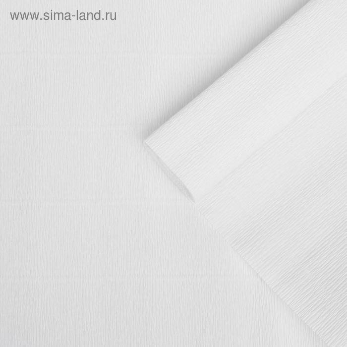Бумага гофрированная, 900 белоснежная, 0,5 х 2,5 м