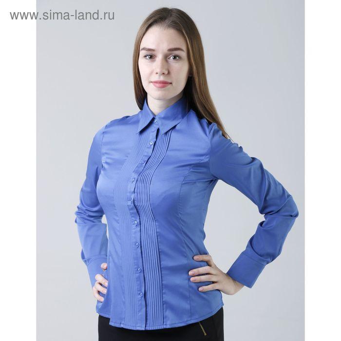 Блузка женская с длинным рукавом 905-1239, размер 40, цвет ярко-синий