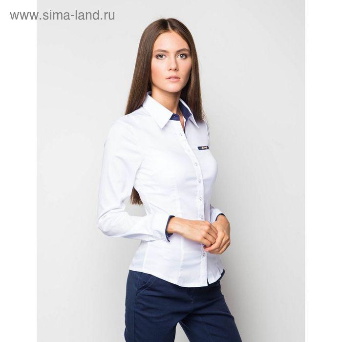 Блузка женская с длинным рукавом 905-13119, размер 48, цвет белый