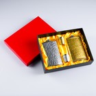 Подарочный набор 4 в 1: 2 фляжки 300 мл, 2 рюмки, микс, 17х23 см