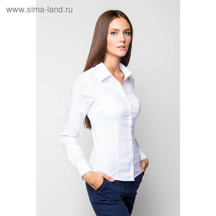 Блузка женская с длинным рукавом 905-9052, размер 44, цвет белый