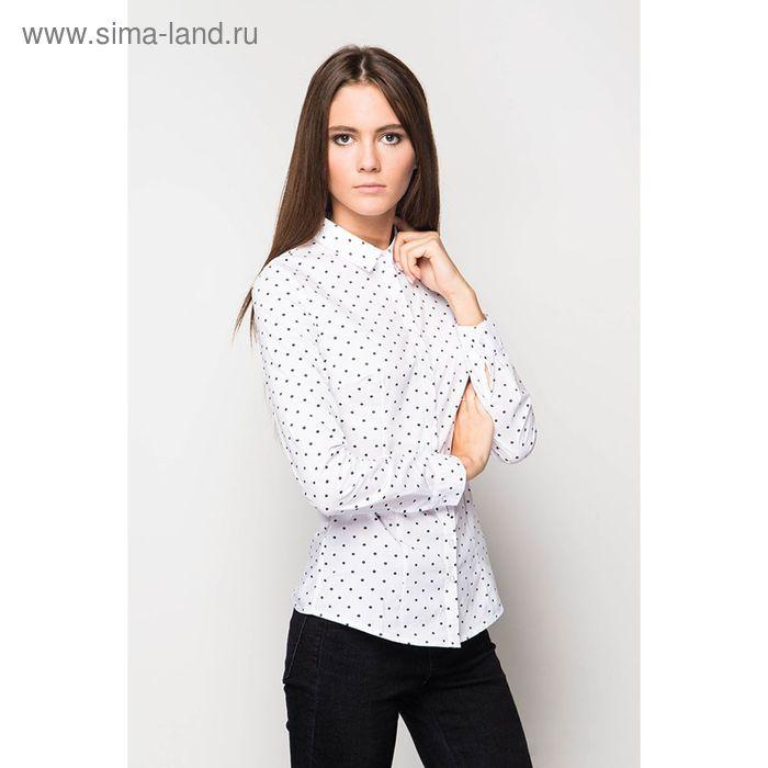 Блузка женская с длинным рукавом, размер 50, цвет белый (арт. J1106-1527 C+)