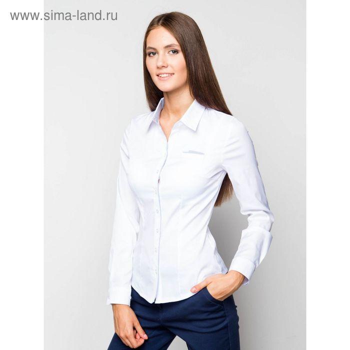 Блузка женская с длинным рукавом 905-13251, размер 48, цвет белый