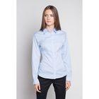 Блузка женская с длинным рукавом 905-1515L, размер 48, цвет голубой