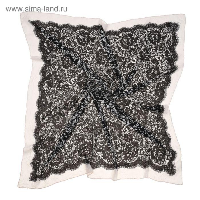 Платок многоцветный, размер 95х95 см, цвет белый FC 311 текстиль