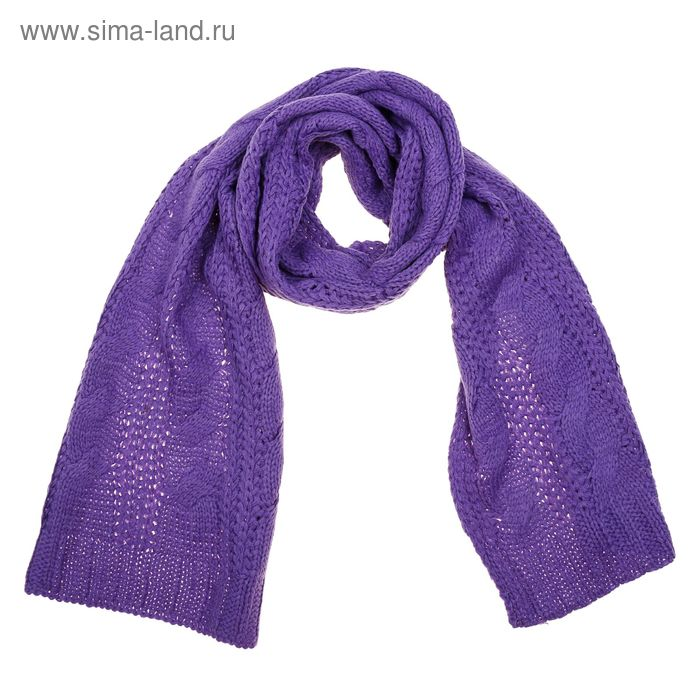 Шарф однотонный, размер 30х180 см, цвет фиолетовый V 2102 трикотаж