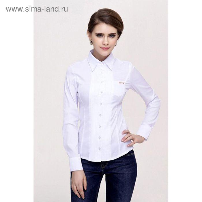 Блузка женская с длинным рукавом 905-1239, размер 46, цвет белый