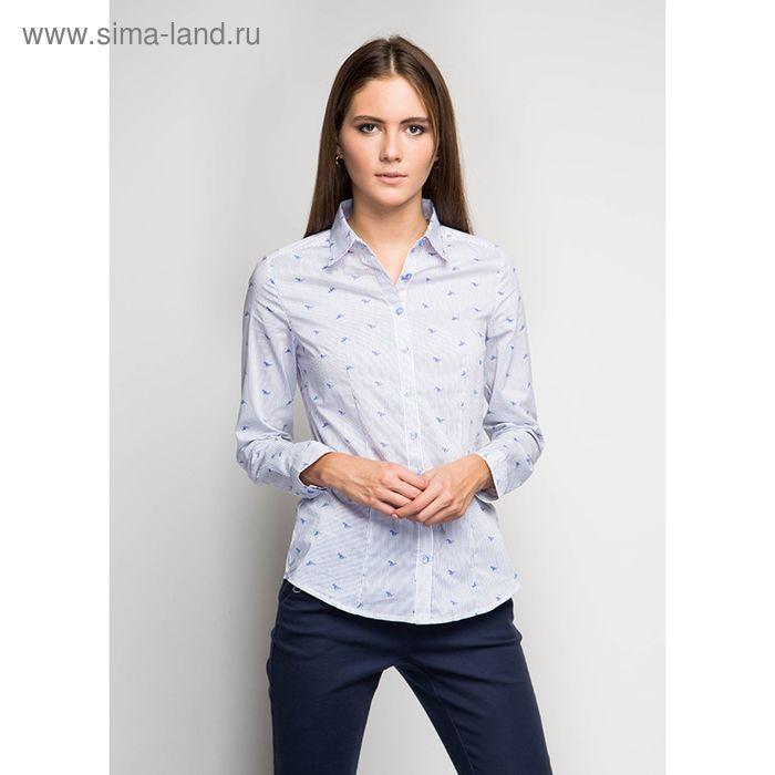 Блузка женская с длинным рукавом Q8022-1576, размер 44, цвет белый