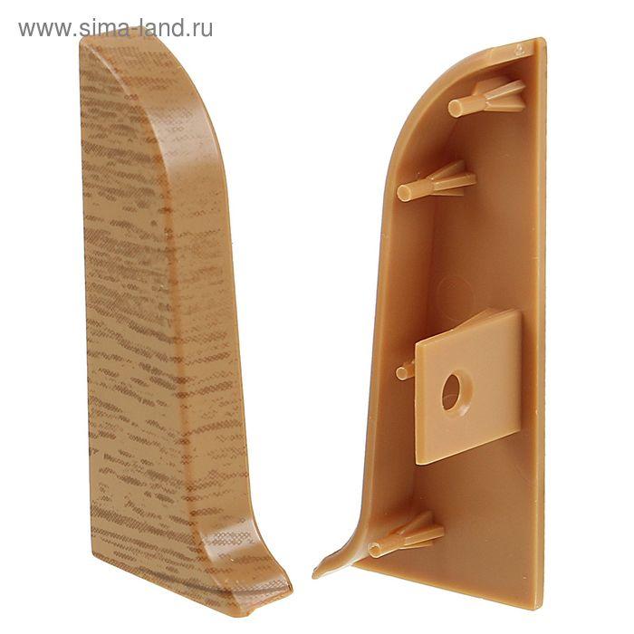 Торец для плинтуса (D) левый текстура (522 Дуб янтарный)