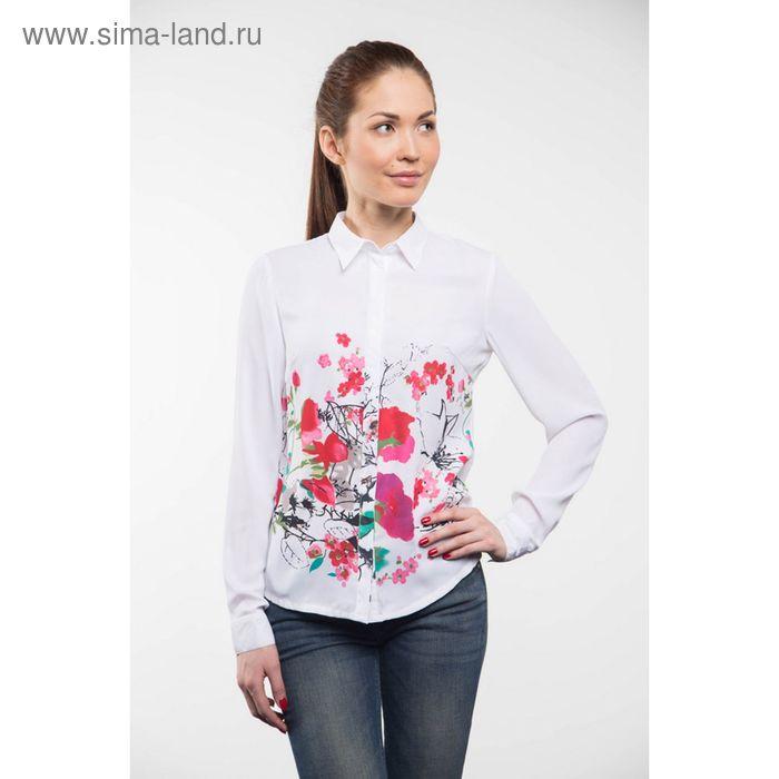 Блузка женская с длинным рукавом 905-132132, размер 40, цвет белый