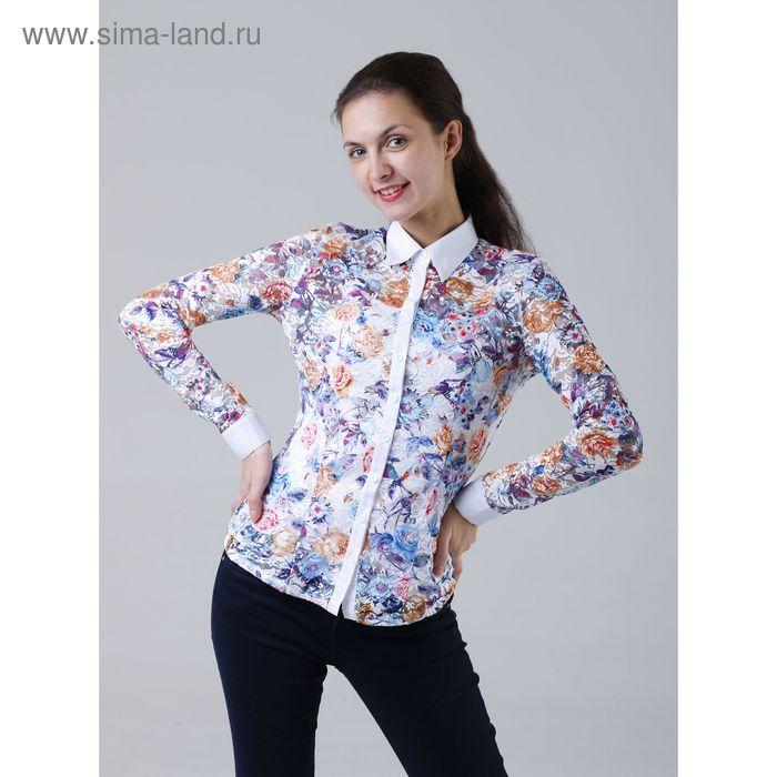 Комплект женский (рубашка+майка) 905-13288L, размер 50, цвет белый