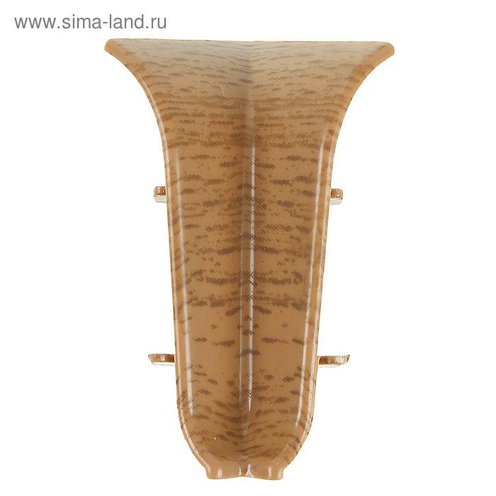 Угол внутренний для плинтуса (D) текстура (522 Дуб янтарный)