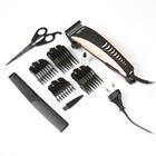 Машинка для стрижки волос Irit IR-3307, 10 Вт, 220 В, 4 уровня стрижки, цвет золото