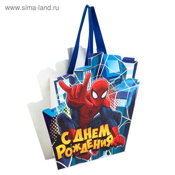 """Пакет-открытка """"С Днем Рождения"""", Человек-паук"""