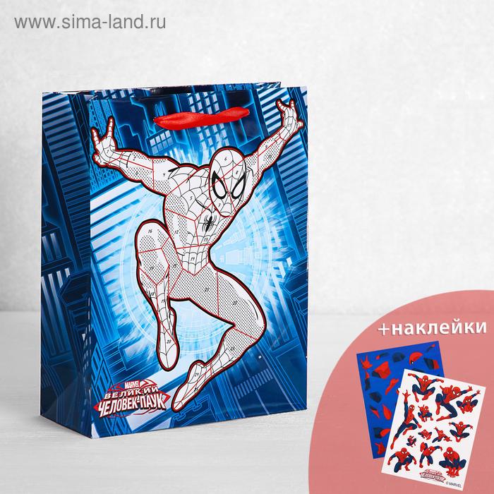 """Пакет ламинат вертикальный с наклейками """"Великий Человек-Паук"""", Человек-Паук"""