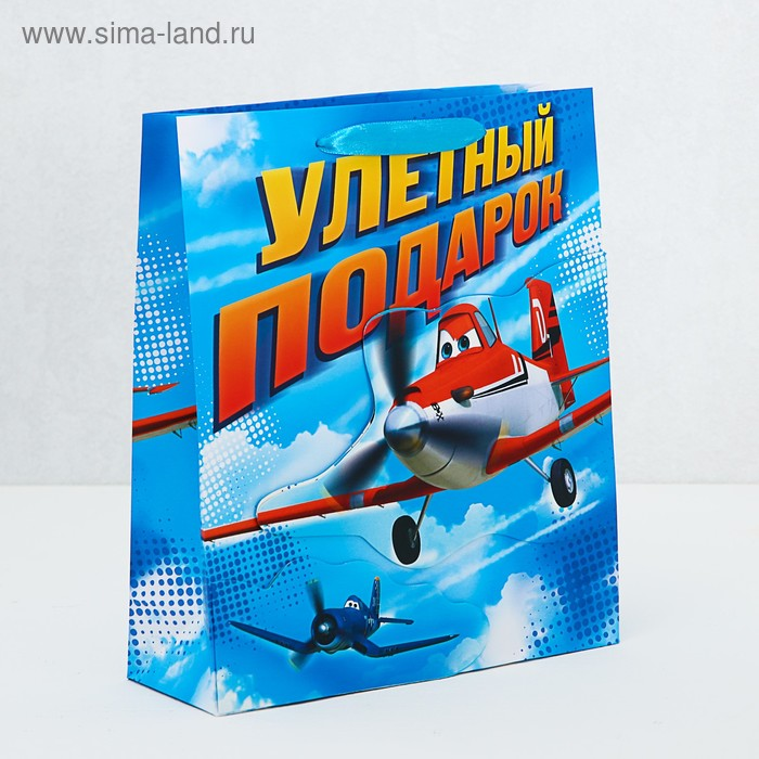 """Пакет ламинат с открыткой-игрой """"Улетный подарок"""", Самолеты"""