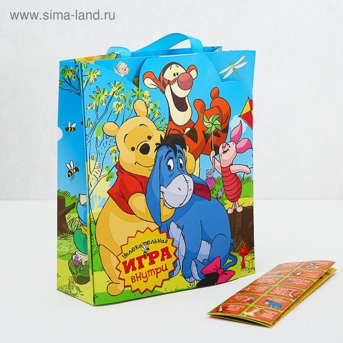 """Пакет ламинат с открыткой-игрой """"Веселая игра"""", Медвежонок Винни"""