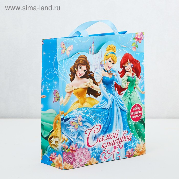 """Пакет ламинат с открыткой-игрой """"Самой красивой"""", Принцессы"""