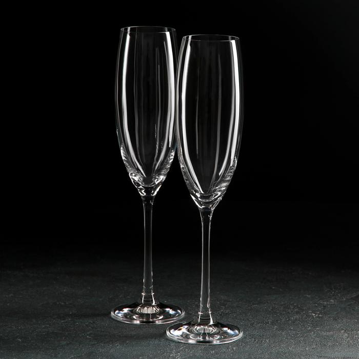 """Набор бокалов для шампанского 230 мл """"Грандиосо"""", 2 шт"""