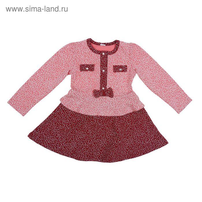 Платье для девочки, рост 104 см (56), цвет микс 821-15