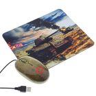 Мышь CBR Tank Battle, оптическая, проводная, 1200 dpi, с ковриком, USB