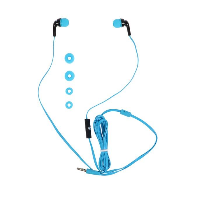 Наушники с микрофоном Human Friends Travel Sound, вакуумные, голубые