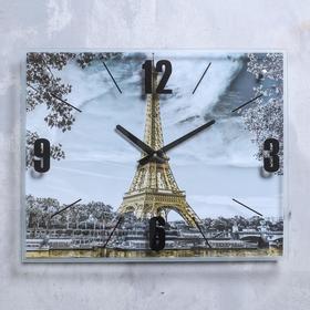 """Часы настенные, серия: Город, """"Эйфелева башня, Париж"""", 40х50  см, микс"""