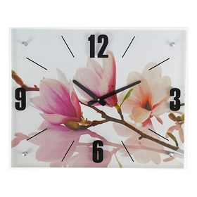 """Часы настенные, серия: Цветы, """"Бело-сиреневые цветы"""", 40х50  см, микс"""