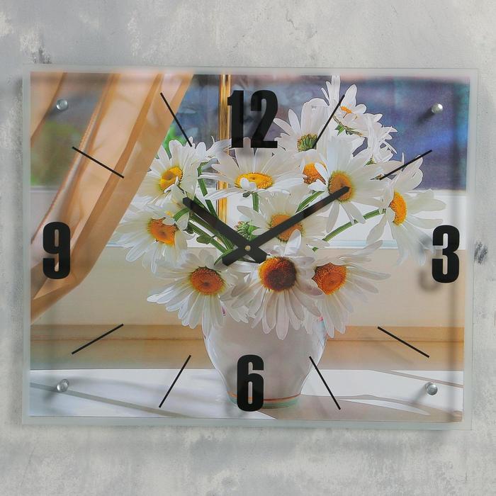 """Часы настенные, серия: Цветы, """"Ромашки"""", 40х50  см, микс"""