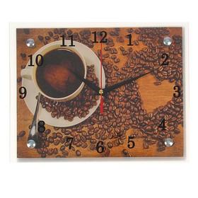 """Часы настенные, серия: Кухня, """"Чашка кофе"""", 20х25  см, микс"""