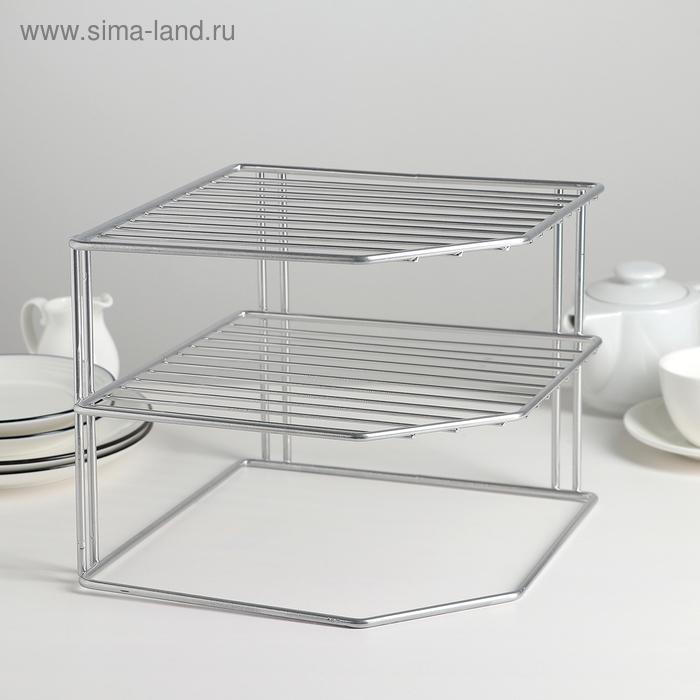 Подставка для посуды, 3 яруса, цвет хром