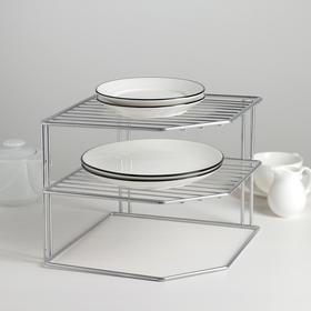 {{photo.Alt || photo.Description || 'Подставка для посуды, 2 яруса, 25×25×20 см, цвет хром'}}