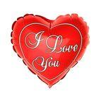 """Шар фольгированный Сердце 9"""" I Love You Красный ФМ"""