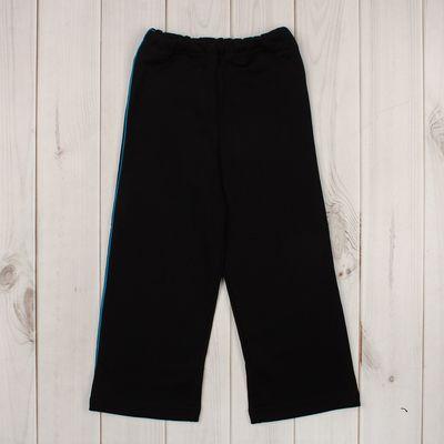 Брюки с кантом для мальчика, рост 98 см (56), цвет чёрный