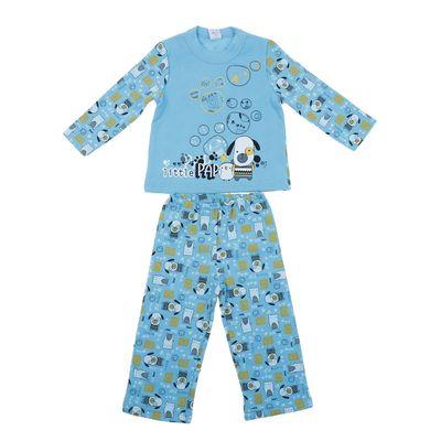 """Пижама с начёсом для мальчика """"Щенок"""", рост 80-86 см (52), цвет бирюза, принт Р227606"""