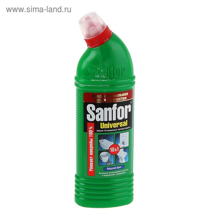 """Универсал антимикробный гель """"Sanfor"""" Морской бриз, 750мл"""