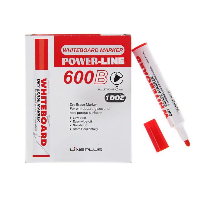 Маркер для доски 3.0 мм Line Plus 600B красный