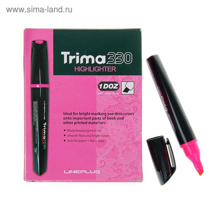 Маркер текстовыделитель 5.0 Line Plus Trima33 розовый трехгранныйный корпус