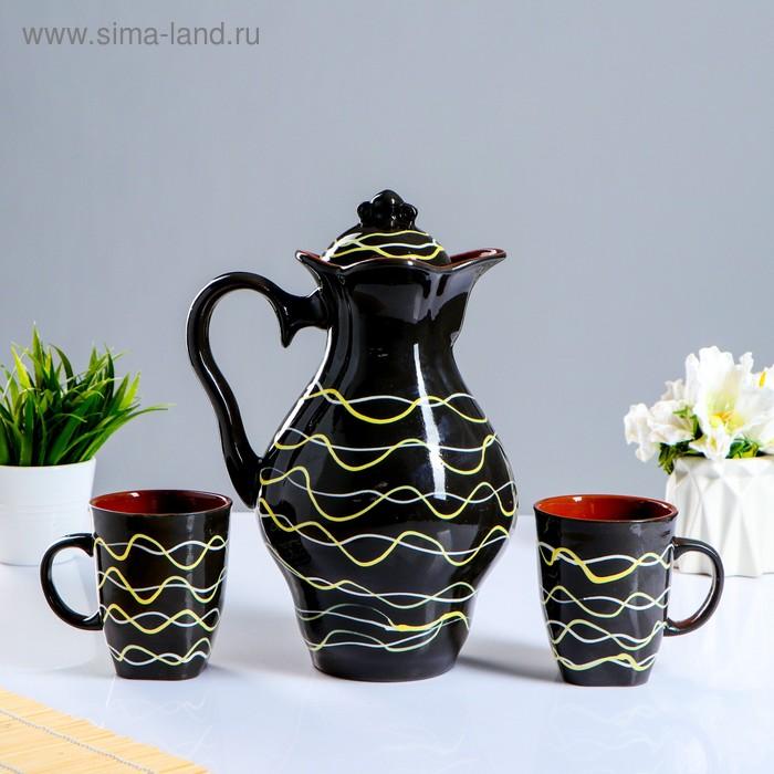 """Набор молочный """"Вера"""" 3 предмета, серпантин"""