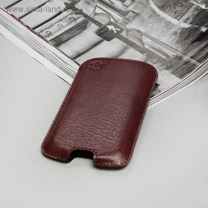 """Чехол-кармашек """"Norton"""" для телефона Lenovo, цвет бордовый"""