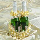 Корзинка для шампанского ладья золотая