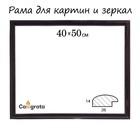 Рама для зеркал и картин 40х50х2,6 см, Berta тёмно-коричневая